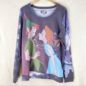 Disney Peter Pan Wendy Tinkerbell Sweatshirt
